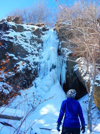 今日の氷瀑