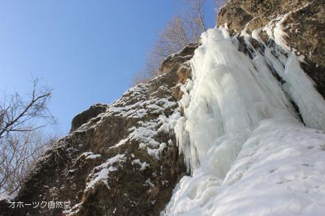 氷の滝です