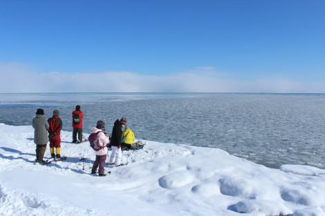 氷の滝スノーシュー